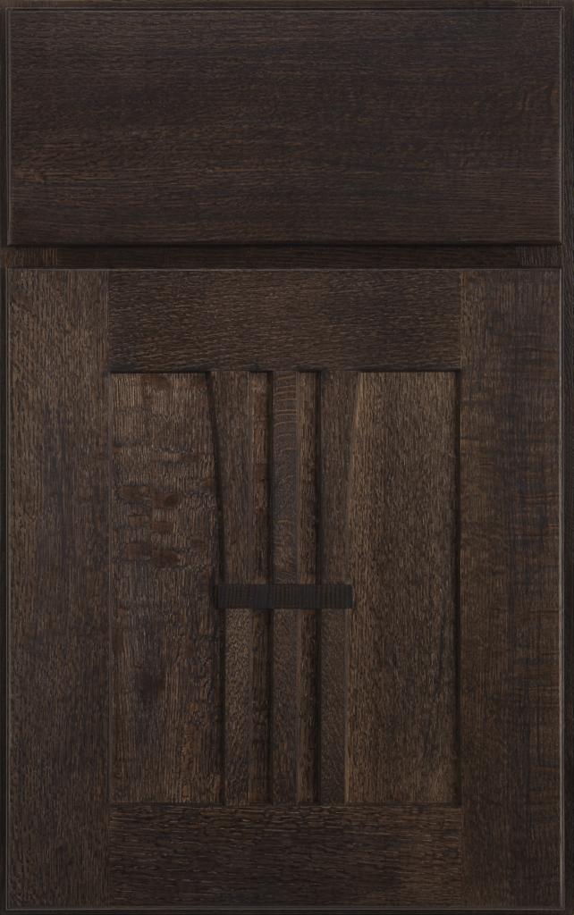 Country Cabinetry, Grayson quartersawn oak Shale