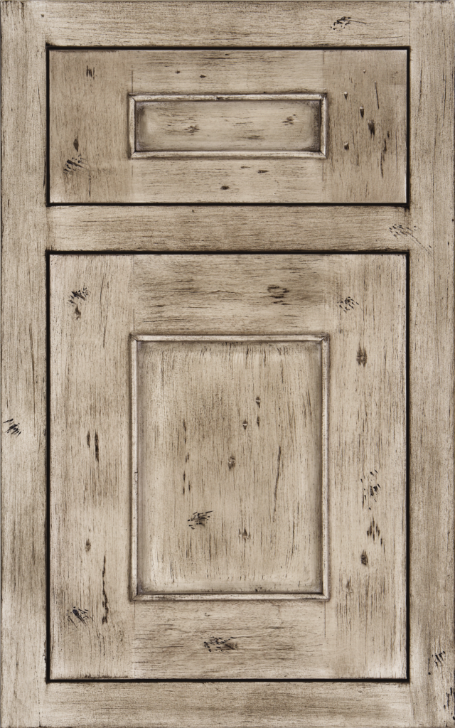 Country Cabinetry, Logan inset on cherry wood in Silver Appaloosa