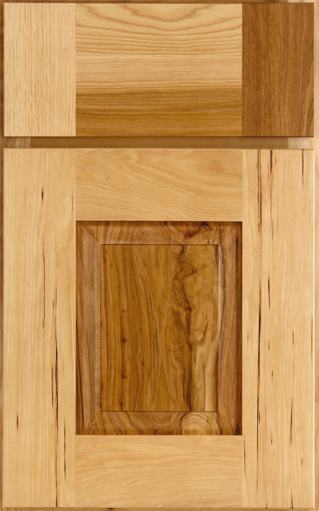 Country Cabinetry, Rigby Raised Panel on hickory in Tumbleweed stain