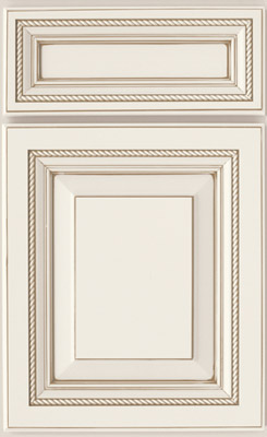 Country Cabinetry, Southhampton on maple painted Linen with Taupe glaze