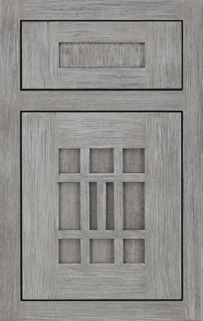 Country Cabinetry, INSET- Rockwell quartersawn oak Greystone