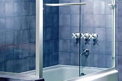 Semi-frameless Bi-pass Sliding Shower Door