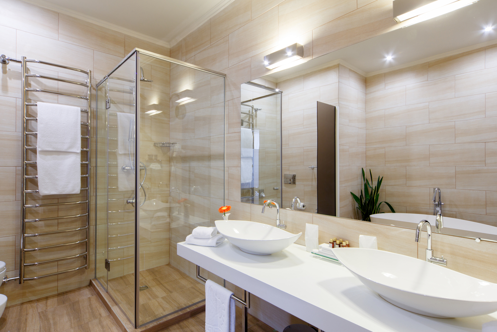 Contemporary Bathroom Lighting, Glass Shower Door, Bathroom Remodeling