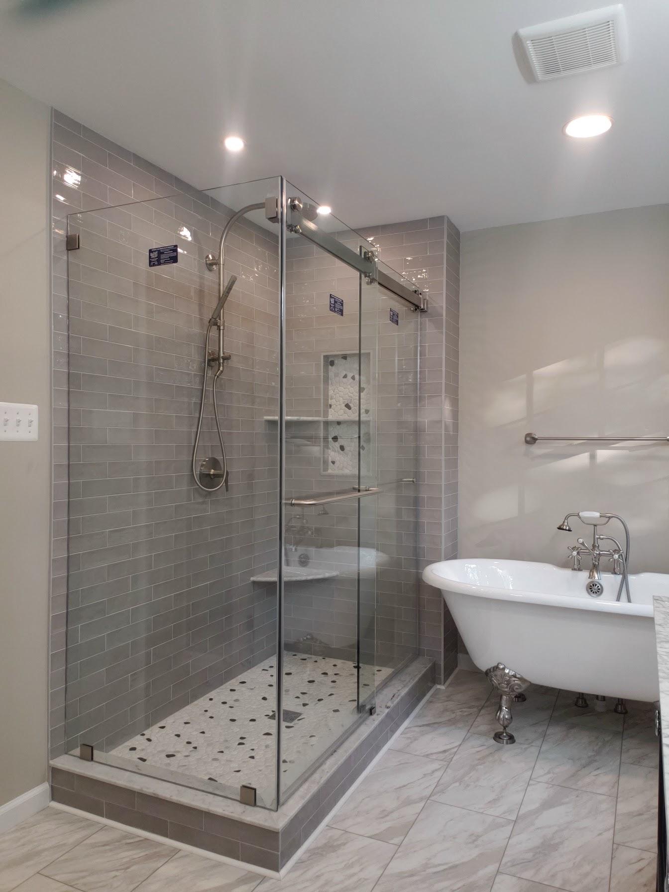 Beautiful Bathroom Updates, Frameless Sliding Shower Door