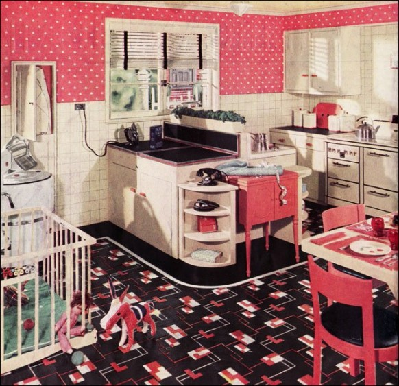 "Retro 1930""s Kitchen, Evolution of the Work Triangle, Kitchen Remodeling"
