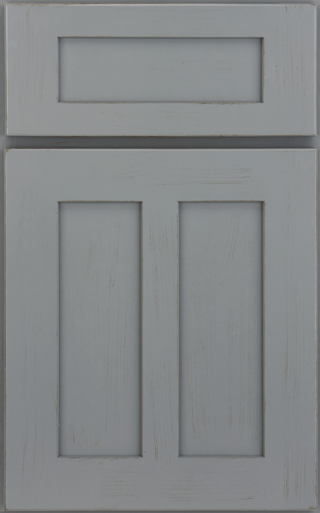 Country Cabinetry, Salinger Flat Panel maple Islander Dry Brush