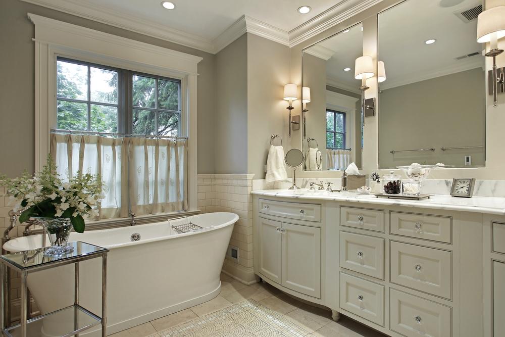 Beautiful bathroom updates, soaker tub
